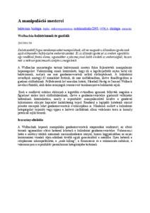 wolbachia baktériumok tabletták az emberi papilloma kezelésére