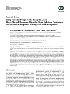 Using Factorial Design Methodology to Assess PLA-g-Ma and