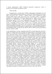 humán papillomavírusok)